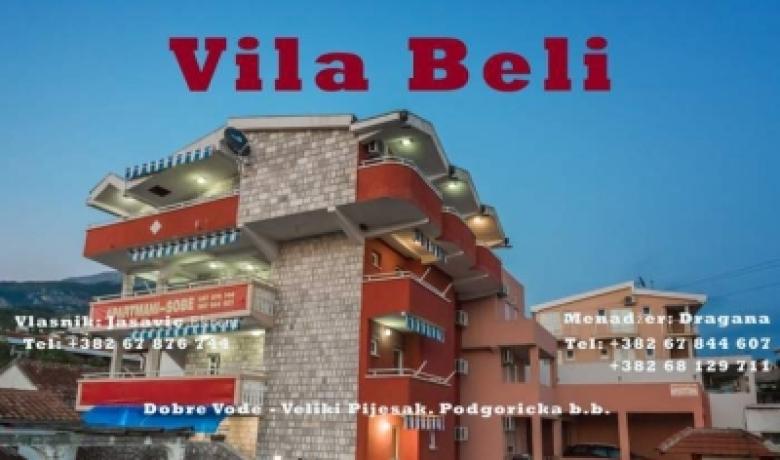 Vila Beli, Dobre Vode, Apartmani